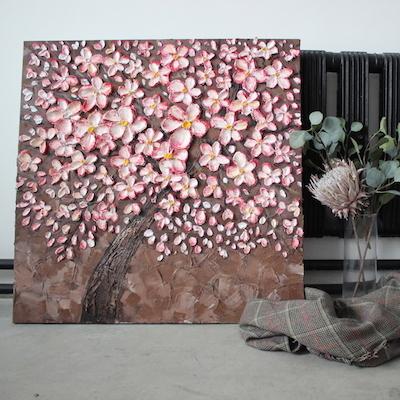 Объемные картины с текстурной пастой