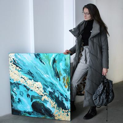 Картины в модной технике Fluid Art