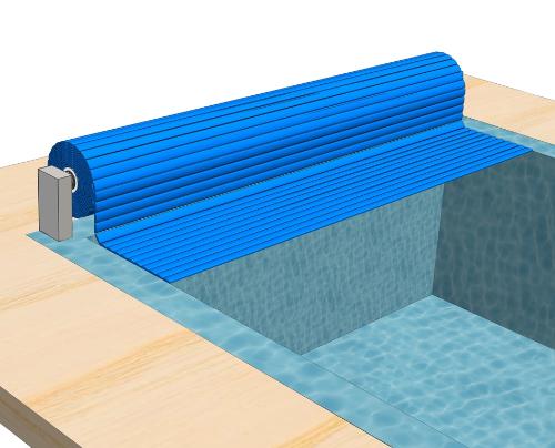Сматывающее устройство надводное А-1Покрытие подходит для нового или существующего бассейна. Вал устанавливается на борт бассейна. Опоры выполнены из нержавеющей стали.