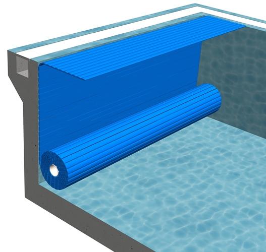 Сматывающее устройство подводноеB-1Покрытие подходит для нового или существующего бассейна. Вал устанавливается ниже уровня воды в бассейне