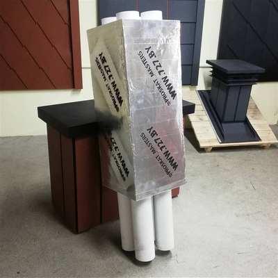 Утепленный вентиляционный модуль на 4 вентшахты, заменяет кирпичную трубу