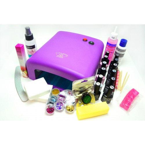Набор МАКСИНабор включает все содержимое набораОПТИМА + 5 цветных (гель-лаковна выбор), втирку, дополнительный глиттер,антибактериальное стредство для обработки рук и инструментов