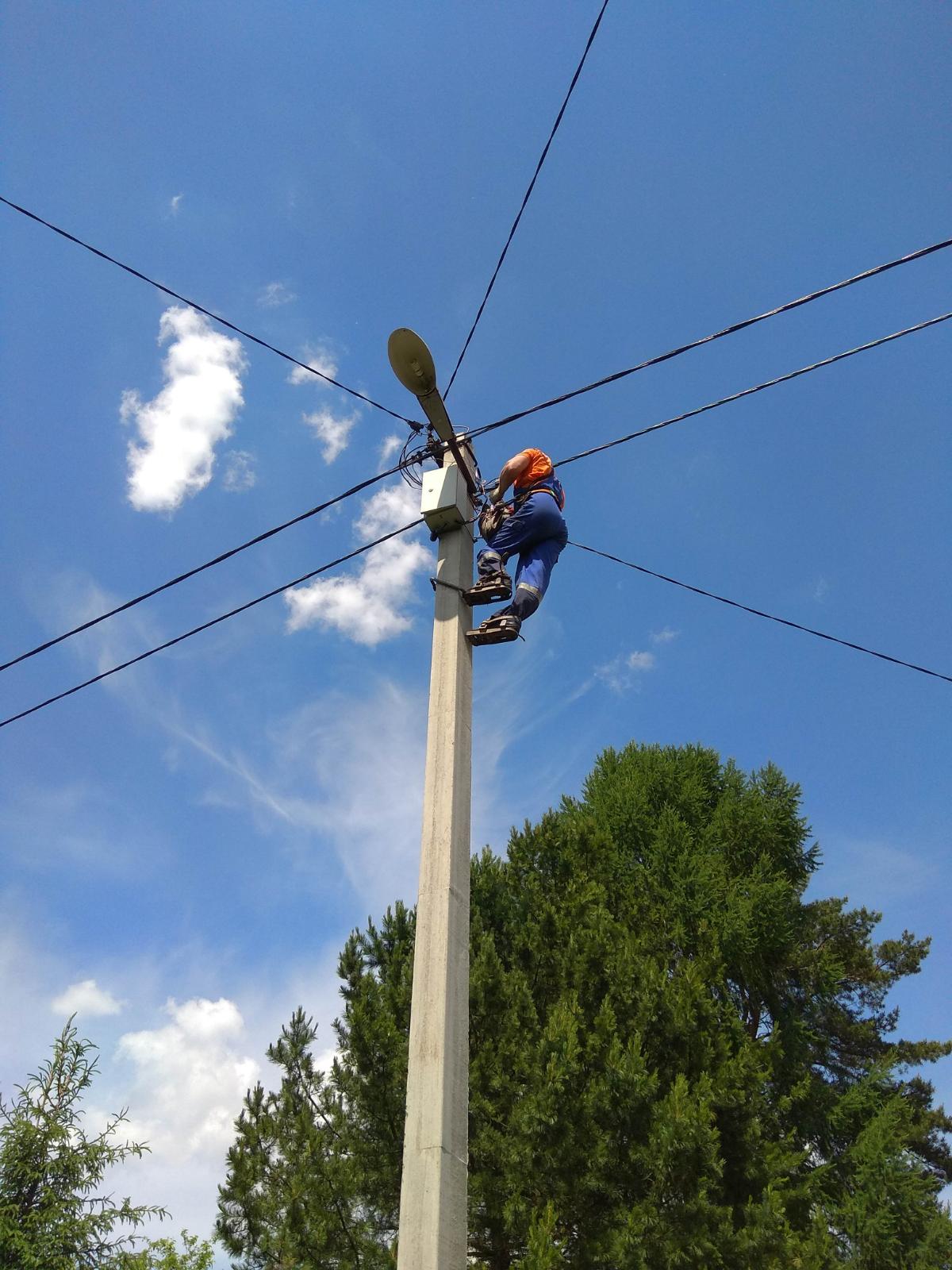 СНТ ИМАШЗамена старого провода на СИП.Линия 0,4 кВ.