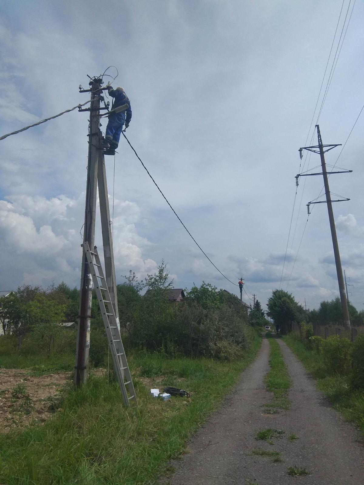 СНТ ГидротехникУстановка светильников уличного освещения.