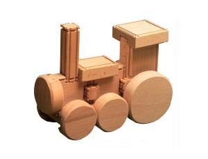 Игрушка деревянная. Конструктор «Паровозик»