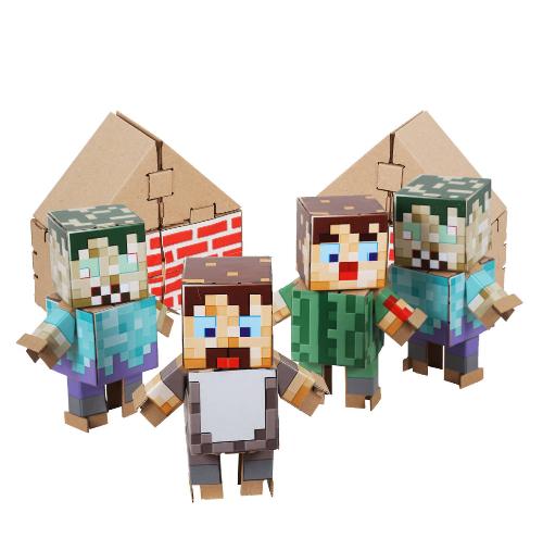 """Конструктор из картона Атака ЗомбиТематический набор«Атака зомби»из мира Minecraft в комплекте с цветными наклейками.Конструктор """"ЙОХОКУБ"""" — это набор кубиков из усиленного картона, а также специальных крепежей и тематических декоративных элементов. ЙОХОКУБики подходят для конструирования любых форм."""