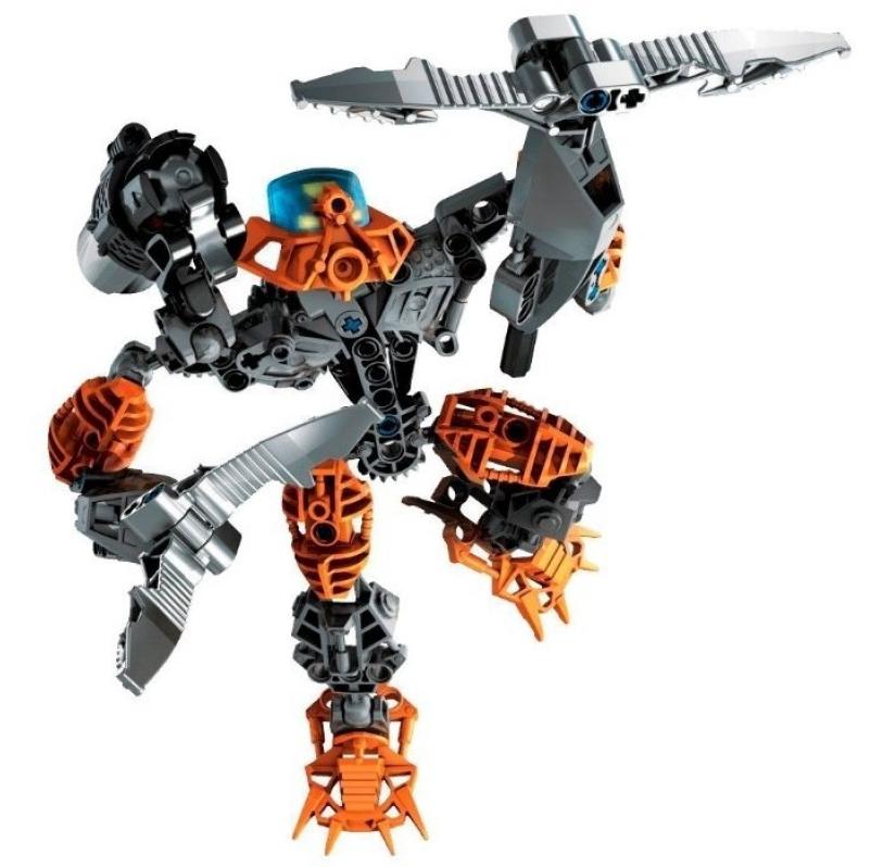 Конструктор Оранжевый ВоинВ набор входят пластиковые высококачественные детали для сборки яркого робота-воина.Хорошая и недорогая альтернатива конструкторам Lego.
