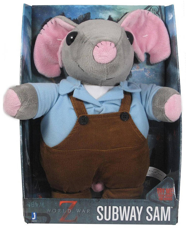 Мягкая игрушка мышонок из фильма Война миров ZМилая плюшевая игрушка со звуковыми эффектами, - мышонок Мышонок Subway Sam,из фильма Война миров Z Умеет считать до 12 по английски!