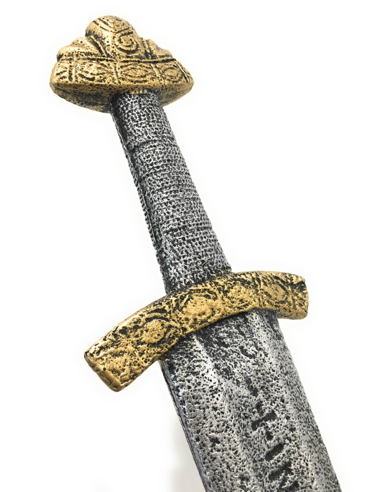 Норманнский МечМеч рыцарский Норманнский - мощный и богато украшенный меч, аналогами которого сражались норманнские воины. Серый пластик с позолотой.