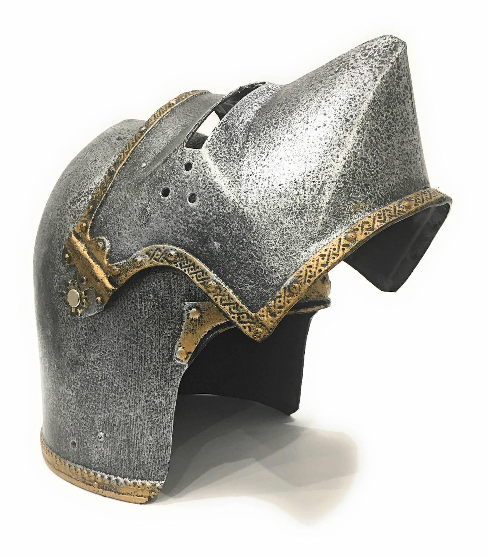 Шлем Собачья МордаШлем Хундс гугель (нем.) или Собачья морда с поднимающимся и опускающимся забралом. Обеспечивает полную защиту головы и лица.