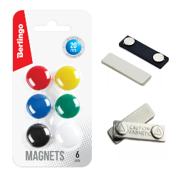 Магнитные товарыдля офисаДержатели бейджей, магниты для магнитно-маркерных досок и пр.