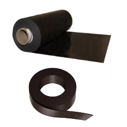 Магнитный винил и материалыМагнитный винил с клеем и без в рулонах и листах, магнитная лента и пр.