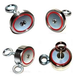 Поисковые магнитыОдносторонние и друхсторонние магниты с рым-болтом в комплекте