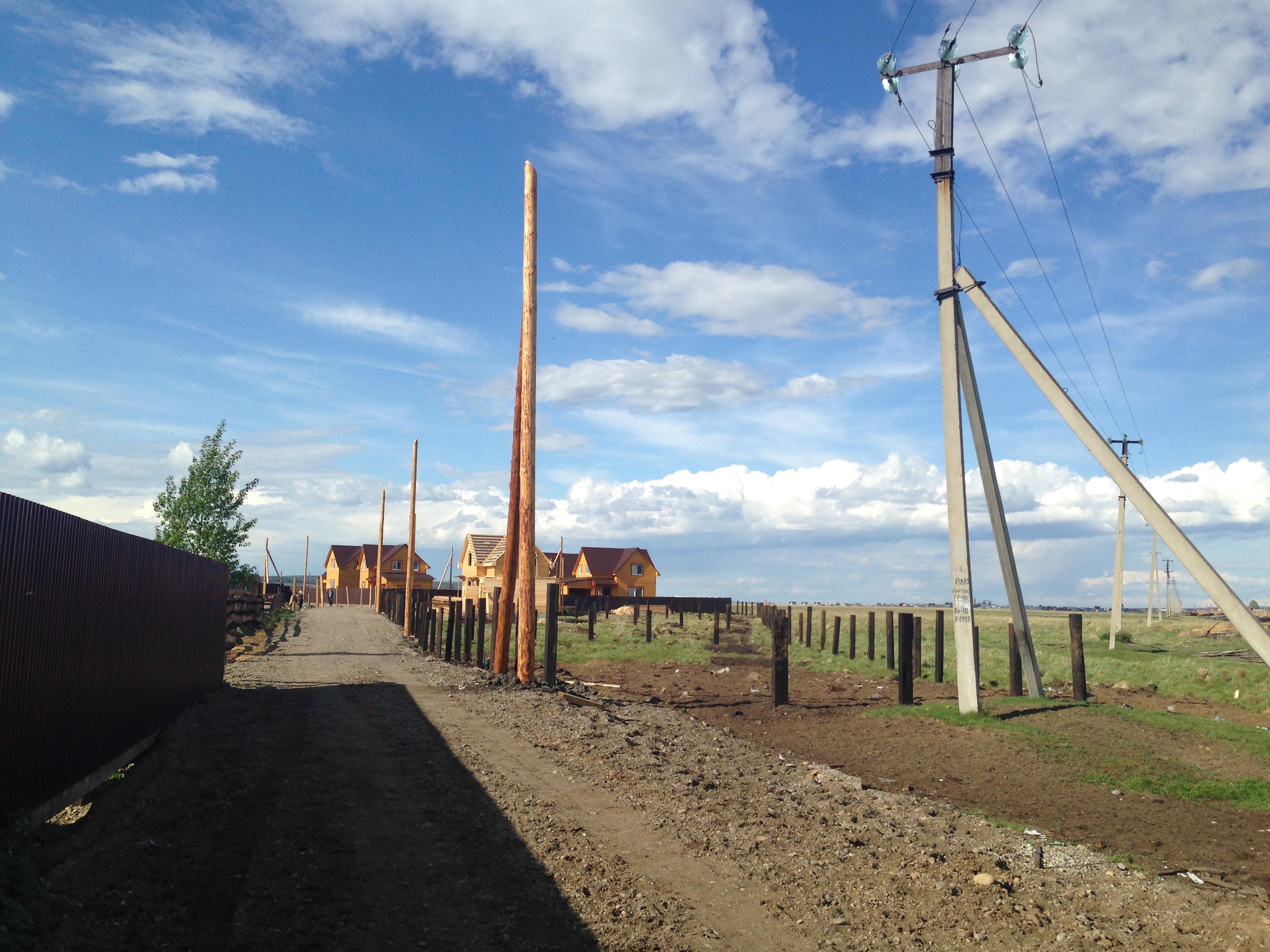 Установка деревянных опор ЛЭП