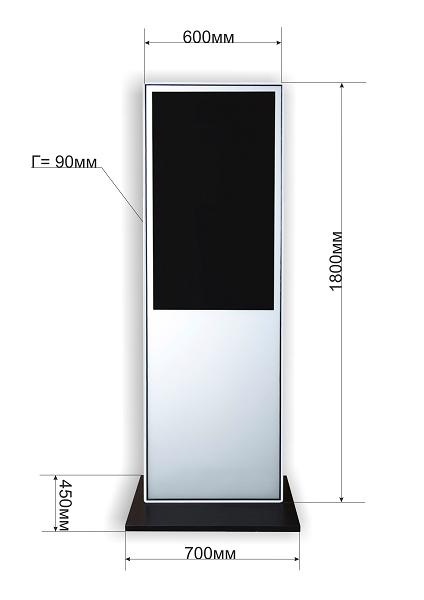 Реклама на уровне глаз со звуком может быть установлена практически везде, где есть 1 м2 площади и розетка 220В !