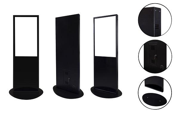 Антивандальная видеостойка Meteoritmedia, металлическая, с бронированным стеклом, ,с FULL HD дисплеем LG 43с трансляцией роликов через Флэш-карту 70000р.,с Удалённым Доступом 74000р..