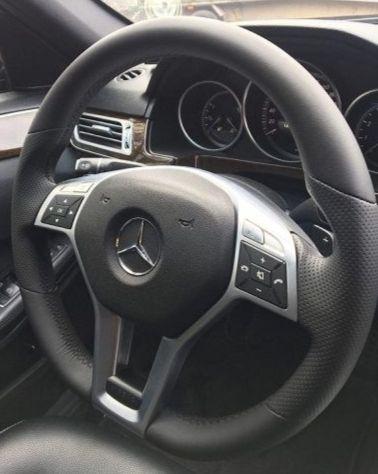 Перетяжка руля Мерседес W212эко кожей Наппа с перфорацией. руль с подогревомстоимость перетяжки 6000