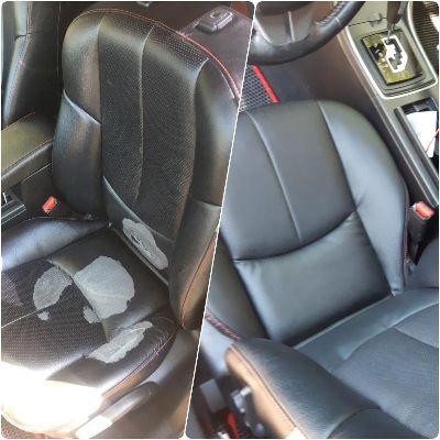 Перешив сиденья Mazda 6Частичный перешив сиденья водителя