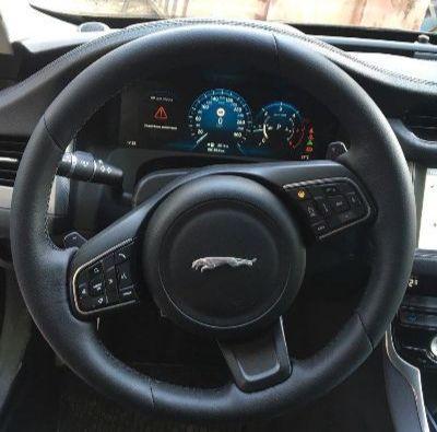 Перетяжка руля Ягуар XFавтомобильной кожей Dakotaруль с обогревомцена 7000