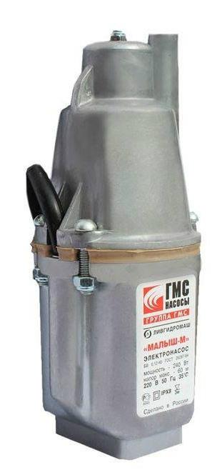 Насос погружной МАЛЫШ-М (длина шнура 16 м)Насос погружной Малыш-ММощность 240ВтПодача воды с глубины 40м составляет 432 л в часМакс. глубина погружения 60 мЗабор воды: верхнийДлина кабеля,м: 16