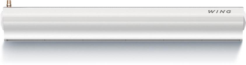 Wing W150 (двигатель АС) Мощность 10-32 кВт Водяной нагревМакс. ширина двери (1 завеса) 1,5 мМакс. высота двери (длина вертикальной струи) 3,7 мМакс. расход воздуха 3150 м3/чДиапазон тепловой мощности 10-32 кВтМакс. температура теплоносителя95°CМаксимальное рабочее давление1,6 МПаОбъем воды 2,6дм3Число рядов теплообменника 2Напряжение питания ~230 В / Фаза 1 / 50 ГцМощность двигателя (двигатель переменного тока) 0,22 кВтНоминальный ток (двигатель переменного тока) 1,8 АМощность двигателя (двигатель постоянного тока) 0,18 кВтНоминальный ток (двигатель постоянного тока) 1,3 АМасса (без воды) 32 кгКласс защиты двигателя IP 20(Защищен от твердых частиц более сантиметра. Прибор предназначен для сухих помещений