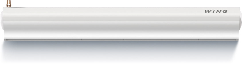 Wing Е150 (двигатель АС) Мощность 4-8-12 кВт Электрический нагревМакс. ширина двери (1 завеса) 1,5 мМакс. высота двери (длина вертикальной струи) 3,7 мМакс. расход воздуха 3150 м3/чДиапазон тепловой мощности 4/12 или 8/12 кВтНапряжение питания ~400 В / Фаза 3 / 50 ГцМощность электронагревателя 4 и 8 кВтПотребляемый ток электронагревателем 6/11,3/17,3 АМощность двигателя (двигатель переменного тока) 0,22 кВтНоминальный ток (двигатель переменного тока) 1,8 АМощность двигателя (двигатель постоянного тока) 0,18 кВтНоминальный ток (двигатель постоянного тока) 1,3 АМасса (без воды) 32,5 кгКласс защиты двигателя IP 20(Защищен от твердых частиц более сантиметра. Прибор предназначен для сухих помещений