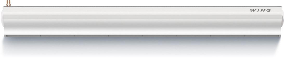 Wing W200 (двигатель АС) Мощность 17-47 кВт Водяной нагревМакс. ширина двери (1 завеса) 2 мМакс. высота двери (длина вертикальной струи) 3,7 мМакс. расход воздуха 4400 м3/чДиапазон тепловой мощности 17-47 кВтМакс. температура теплоносителя95°CМаксимальное рабочее давление1,6 МПаОбъем воды 3,6дм3Число рядов теплообменника 2Напряжение питания ~230 В / Фаза 1 / 50 ГцМощность двигателя (двигатель переменного тока) 0,32 кВтНоминальный ток (двигатель переменного тока) 2,4 АМощность двигателя (двигатель постоянного тока) 0,26 кВтНоминальный ток (двигатель постоянного тока) 1,9 АМасса (без воды) 39 кгКласс защиты двигателя IP 20(Защищен от твердых частиц более сантиметра. Прибор предназначен для сухих помещений