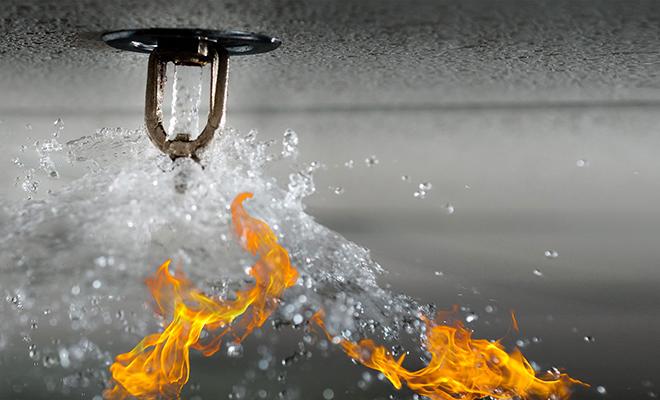 Автоматическую систему пожаротушения
