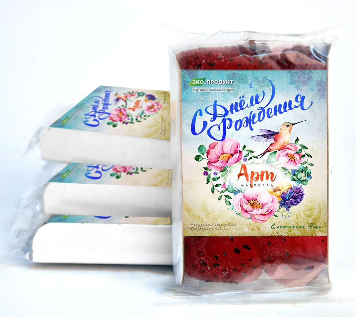 Натуральный мамелад с семечками чиа( возможно изменение дизайна по вашему желанию). Вес - 140 гр. Цена - 105 руб