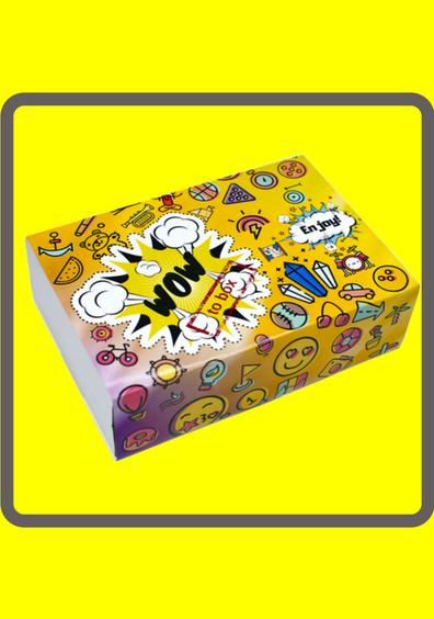 КоробочкаВ этой коробочке подобраны 5 сертификатов на самые интересные события, плюс вкусное наполнение для тебя и твоих близких!
