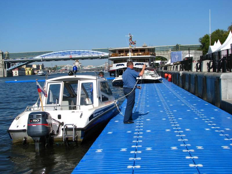 Причал для лодок и катеров