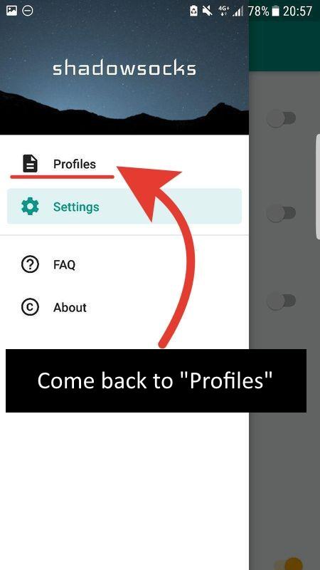 Come back to profiles