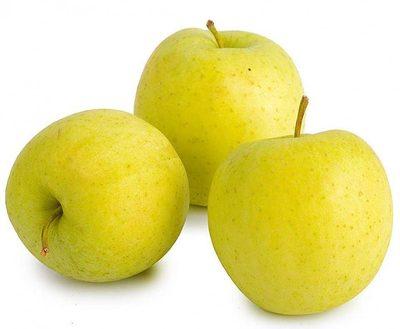 ГолденПлоды большие, с кожицей жёлтовато-зелёного цвета, обладают сладким вкусом.
