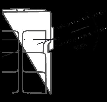 Запрещено устанавливать радиатор с отклонением от осиболее 2˚