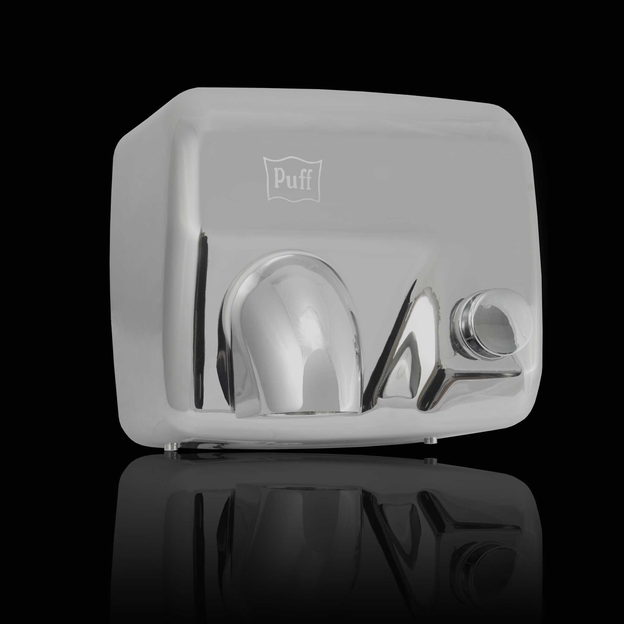 Высокоскоростная Антивандальная  сушилка для рукPuff-8844 Материал корпуса: нерж. сталь Цвет: хром Мощность (Вт): 2 300 Напряжение (В/Гц): 220 / 50-60 Скорость воздушного потока (м/сек): 30 Время сушки рук (сек): 10-12 Габаритные размеры (мм) (ШхГхВ):258*200*232 Вес нетто (кг): 4,8 Гарантия: 12 мес.