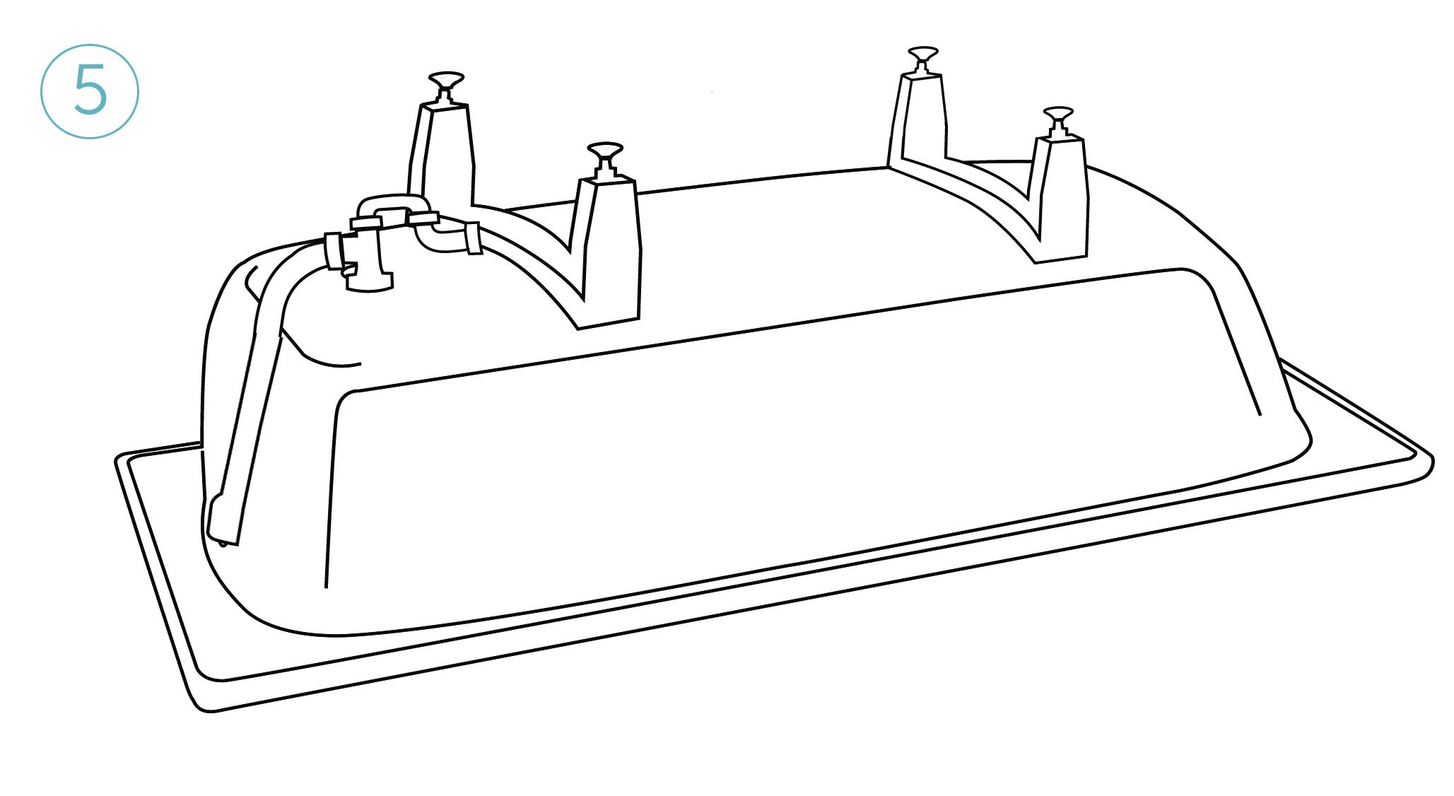 Установите сифон для слива.Проверьте герметичность соединения резиновых уплонителей. (Сифон в комплете не поставляется)