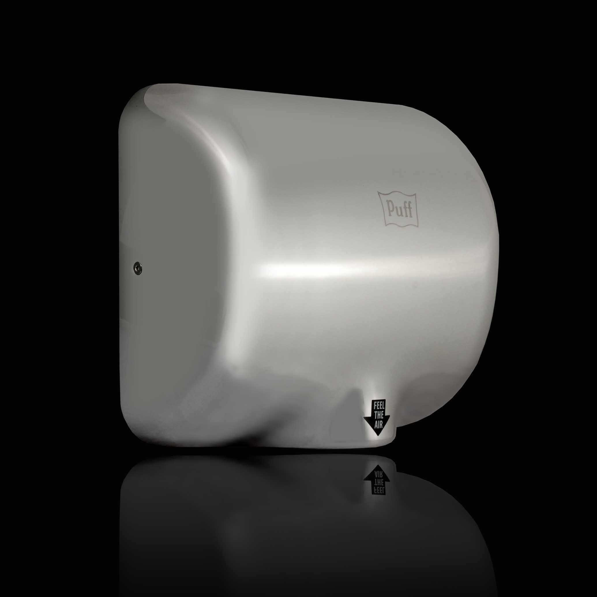 Высокоскоростная Антивандальная сушилка для рукPuff-8888 Материал корпуса: нерж. сталь  Цвет: хром/матовый Мощность (Вт): 1 800  Напряжение (В/Гц): 220 / 50-60  Скорость воздушного потока (м/сек): 95 Время сушки рук (сек): 5-7  Габаритные размеры (мм) (ШхГхВ):295х171х325  Вес нетто (кг): 4,3  Гарантия: 12 мес.