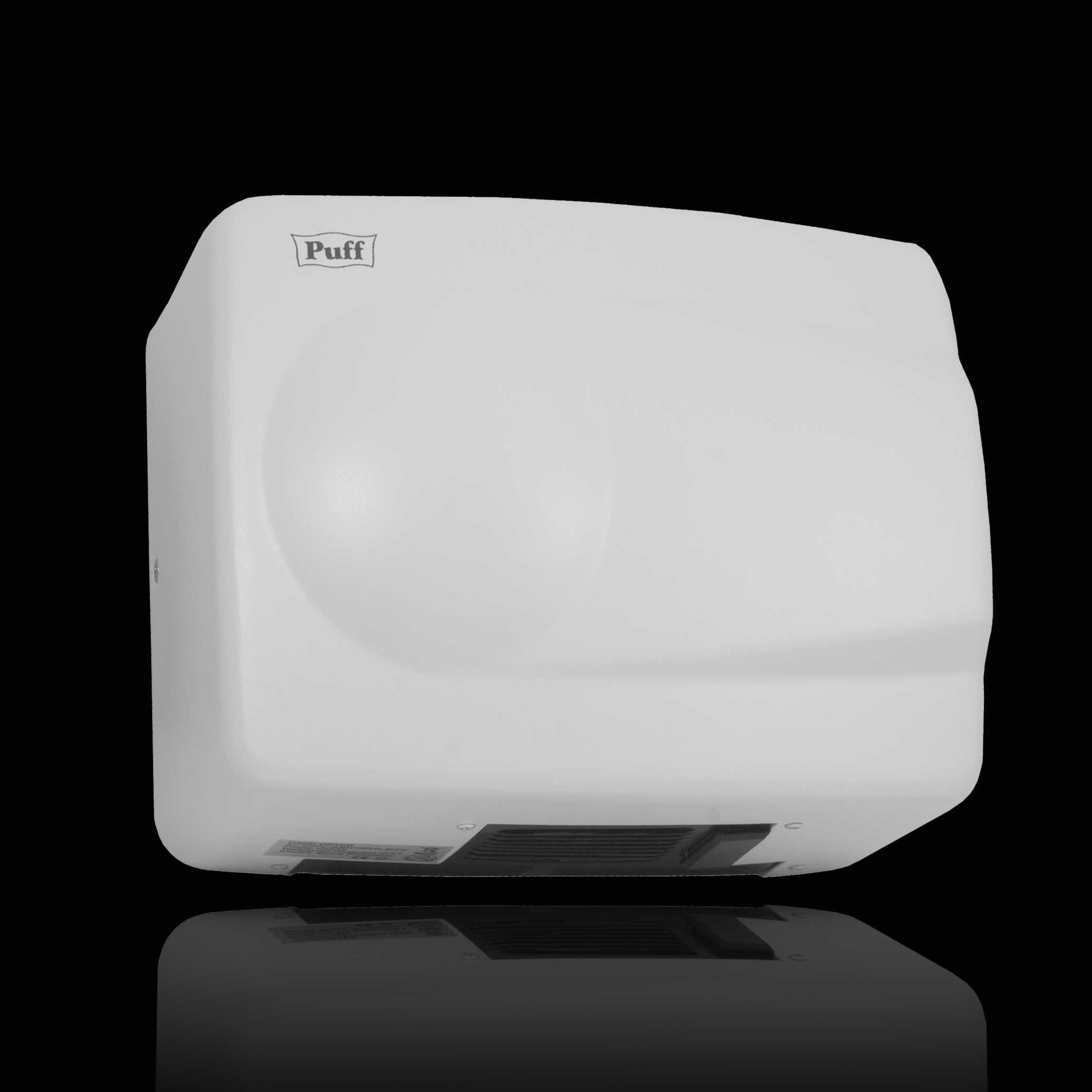 АнтивандальнаяТихая сушилка для рукPuff-8828W Самая малошумная и компактная в своем классе. Обладает привлекательным дизайном. Выполнена в двух цветах - в белом и в хроме. Подходит для мест со средней и малой проходимостью.  Материал корпуса: нержавеющая стальЦвет: белыйМощность (Вт): 1500Скорость воздушного потока (м/сек): 16Время сушки рук (сек): 10-15Механизм включения: автоматическийОбласть срабатывания сенсора, см: 5-20Уровень шума, дБ: 60Температура воздушного потока, С: 40-54°СКласс влагозащищенности: IPX1Защита от перегрева/перегрузки: даВес брутто/нетто, кг: 3,6/3,2Габаритные размеры (мм) (ШхГхВ): 265х125х205Гарантия: 12 мес.