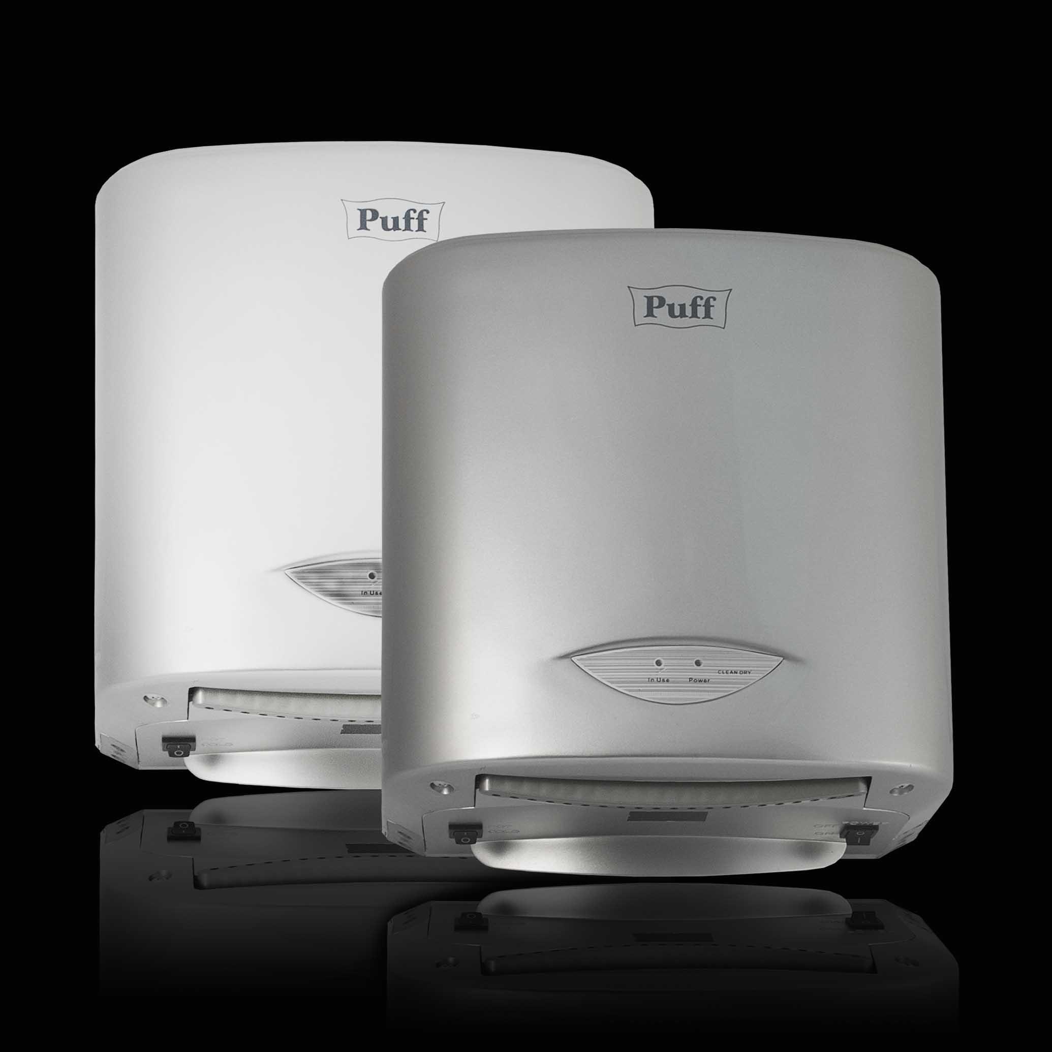 Высокоскоростная сушилка для рукPuff-8805А/8805С Материал корпуса:ABC-Пластик Цвет: белый/тем.серебристый Мощность (Вт): 1 000 Напряжение (В/Гц): 220 / 50-60 Скорость воздушного потока (м/сек): 50Время сушки рук (сек): 10 Габаритные размеры (мм) (ШхГхВ):248х175х250 Вес нетто (кг): 3,8 Гарантия: 12 мес.