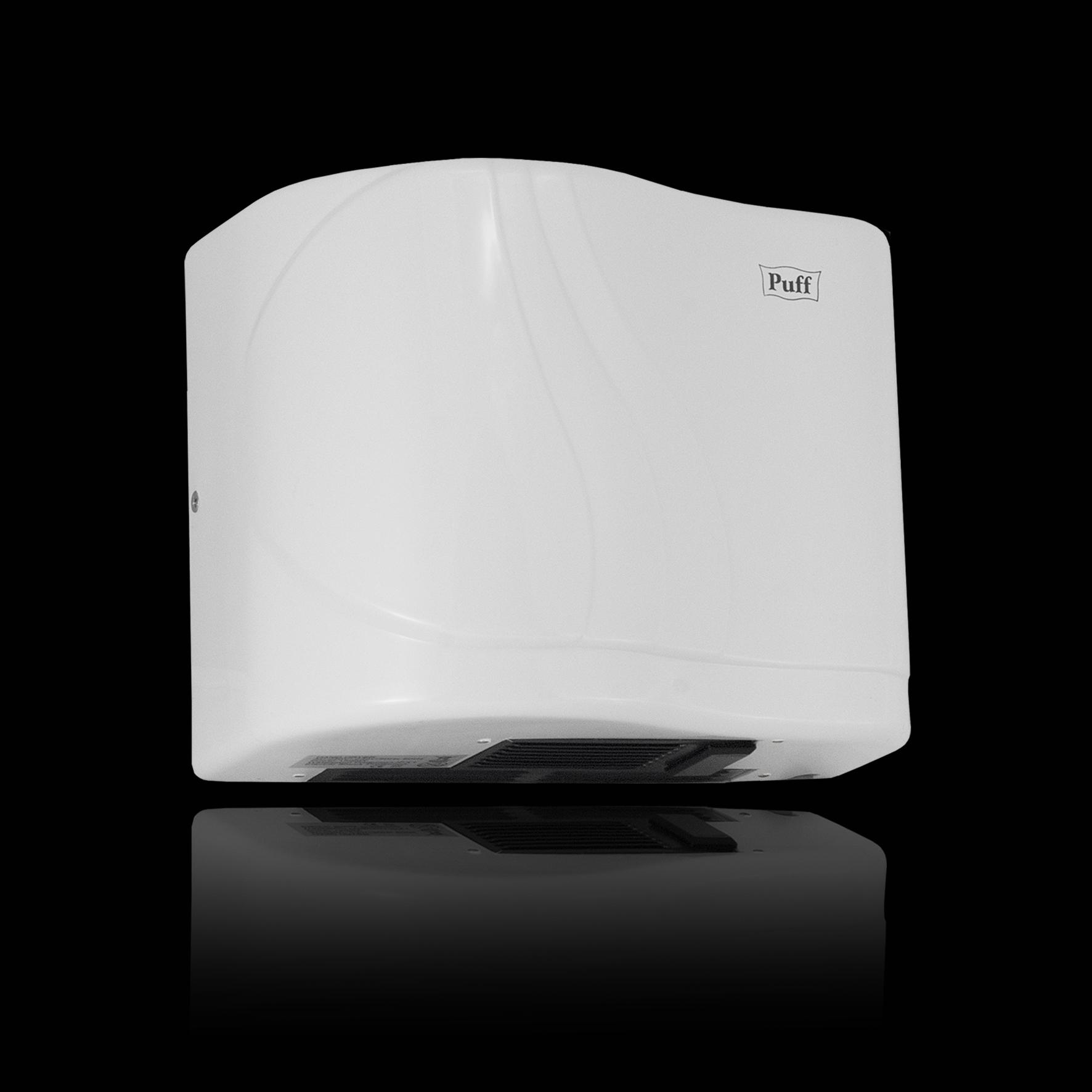 Тихая сушилка для рукPuff-8816 Подробнее   Малошумная. Универсальная и надежная.Беспроигрышный вариант для мест со средней и малой проходимостью.     Материал корпуса: ABC-платикЦвет: БелыйМощность (Вт): 1500Скорость воздушного потока (м/сек): 16Время сушки рук (сек): 15Механизм включения: автоматическийОбласть срабатывания сенсора, см: 5-20Уровень шума, дБ: 55Температура воздушного потока, С: 55-65°СКласс влагозащищенности: IPX1Защита от перегрева/перегрузки: даВес брутто/нетто, кг: 2,5/2,25Габаритные размеры (мм) (ШхГхВ): 265*155*200Гарантия: 12 мес.