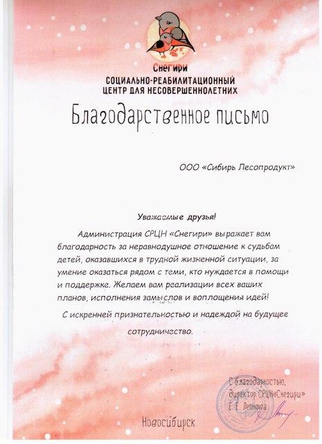 Благодарственное письмо2019 годУсманов Ратмир