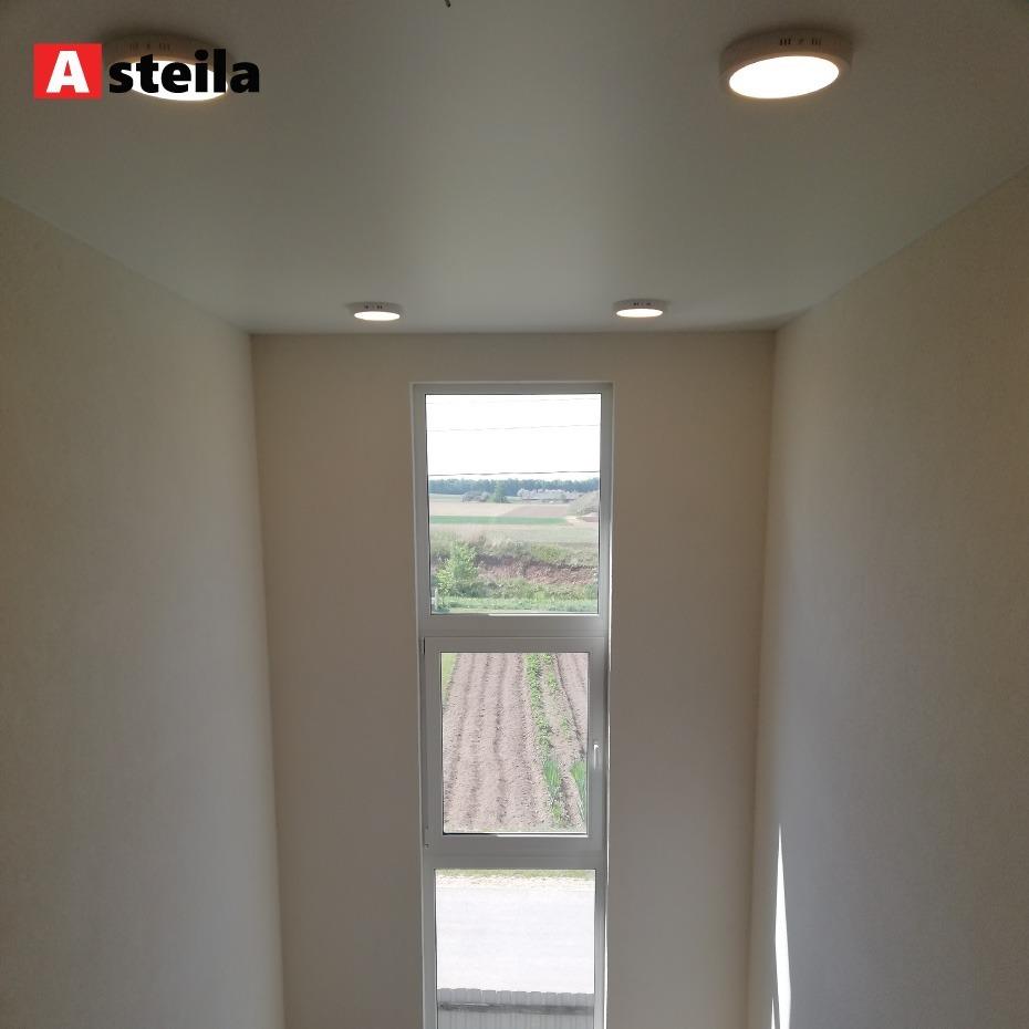 Baltas satinas, lubų montavimo aukštis 5 metrai(Laiptinė)
