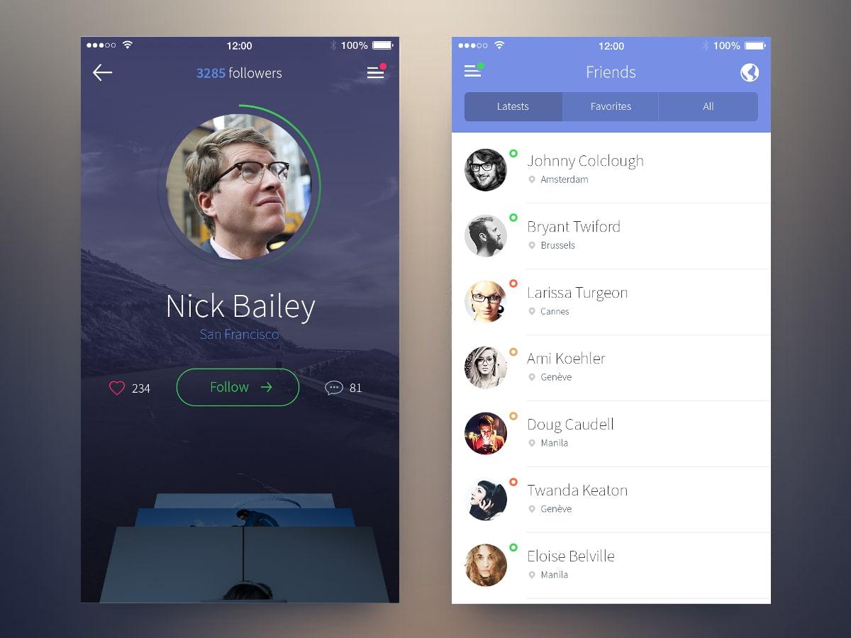 Приложение социальная сеть для друзей
