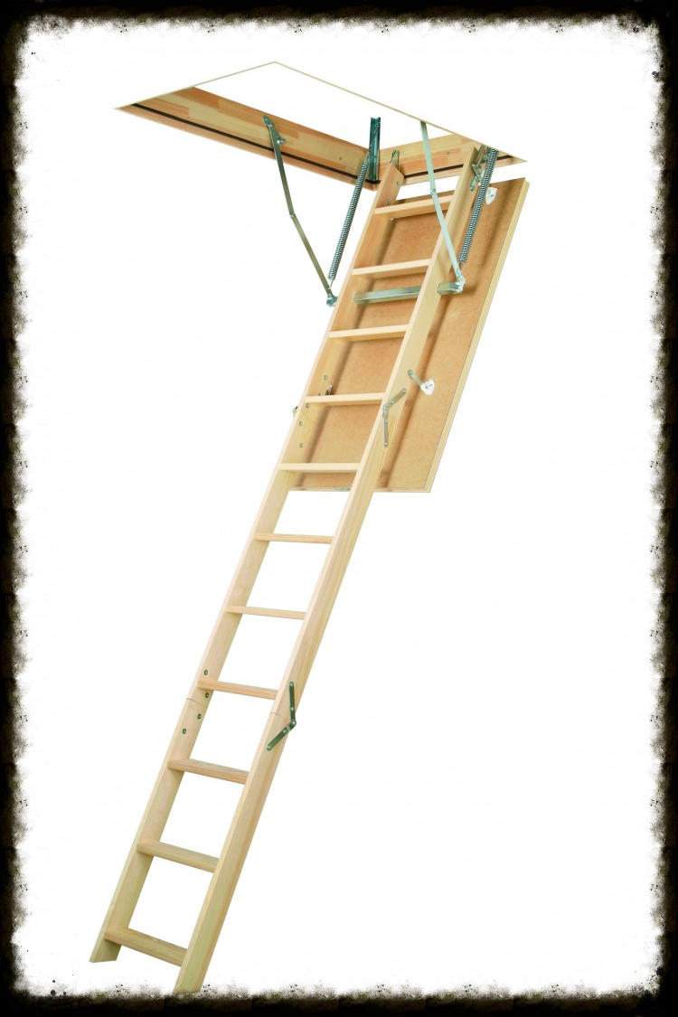 Деревянные лестницы LWS PlusЭтот тип лестниц обладает рядом плюсов, которые вы, несомненно, оцените:LWS Plus изготовлена из особо прочных пород дерева, что позволяет ей служить долгие годы.Благодаря компактным размерам лестница не занимает много места и экономит свободное пространство в доме.В складном виде лестница хранится в потолке.Противоскользящие выемки на ступенях обеспечивают безопасный подъем на чердак.Конструкция доступна в трех или четырех секционном варианте.Выдерживает нагрузку до 160 кг.Гарантия 3 года.