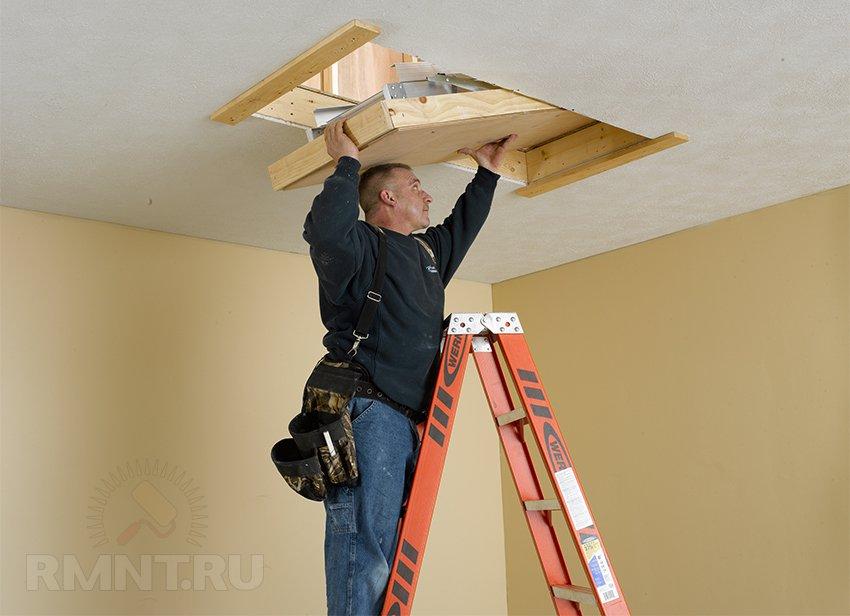Осуществляем профессиональный монтаж чердачных лестниц и мансардных окон.
