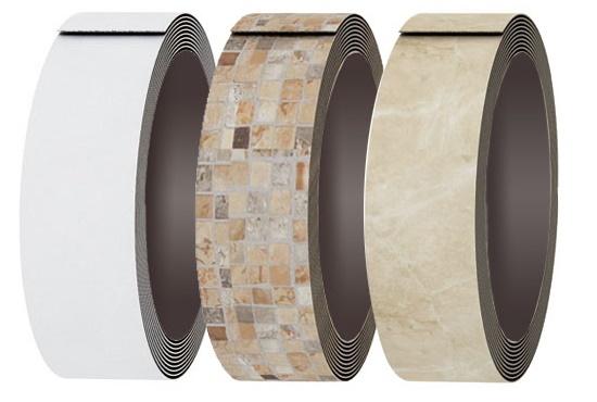 Кромочный материалМеламиновая, пвх и абс кромка, как в цвет столешницы так и уникальные декоры. Кромка с клеем и для машинного нанесения.