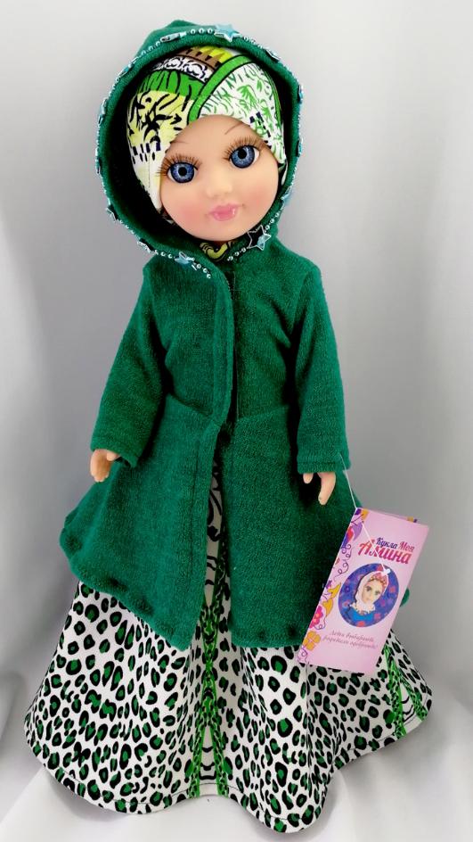 Мусульманская куклаМоя АминаГоворящая кукла в хиджабе читает 7 сур Корана и молитвы для намаза