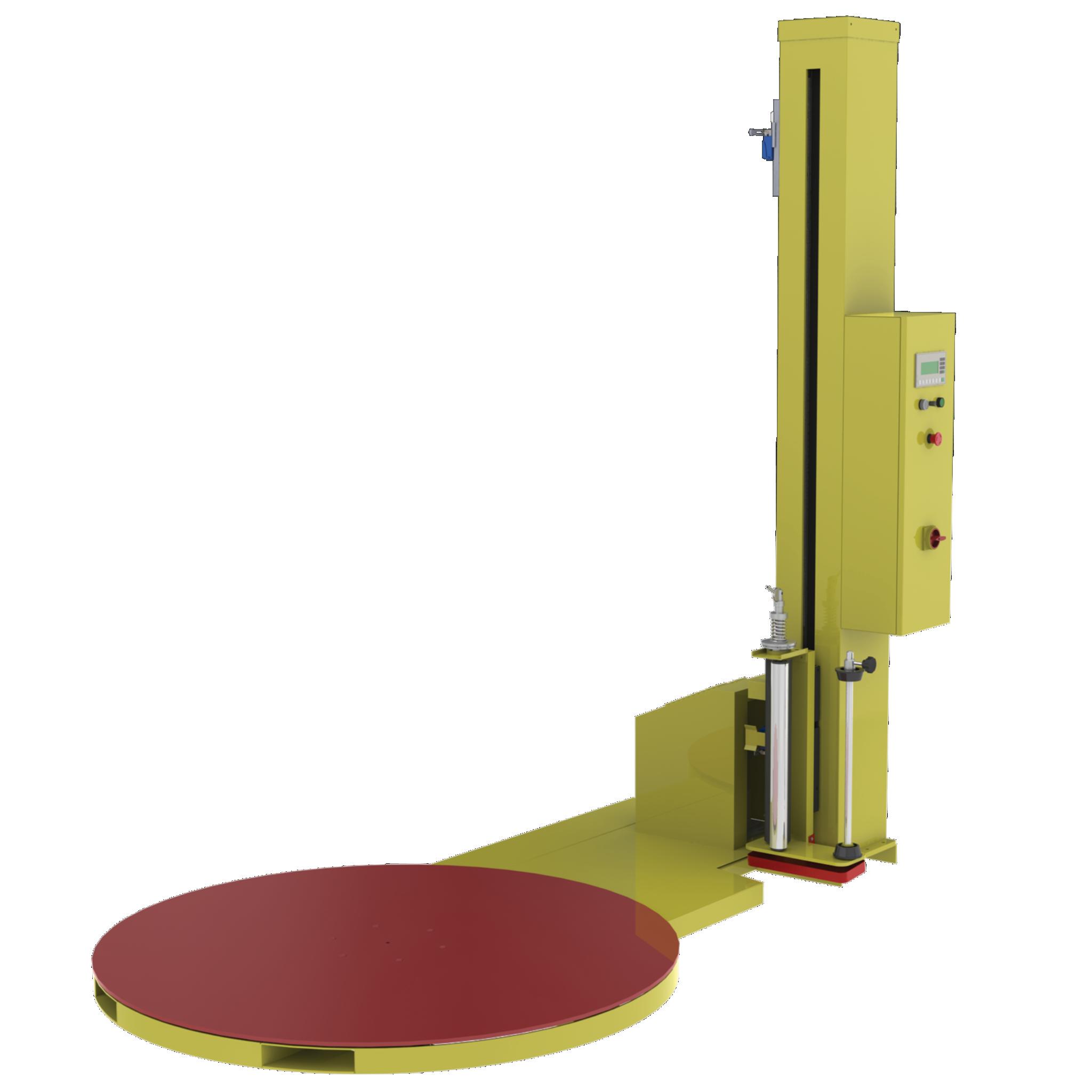 FG-1000Apentru paleți ușori,cu tensionare mecanică a foliei