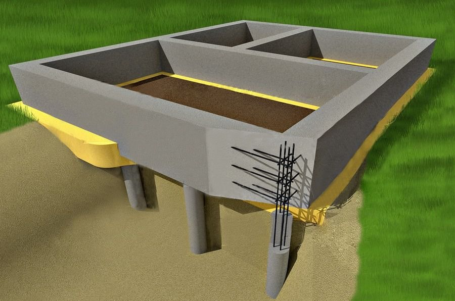 как сделать свайно ленточный фундамент