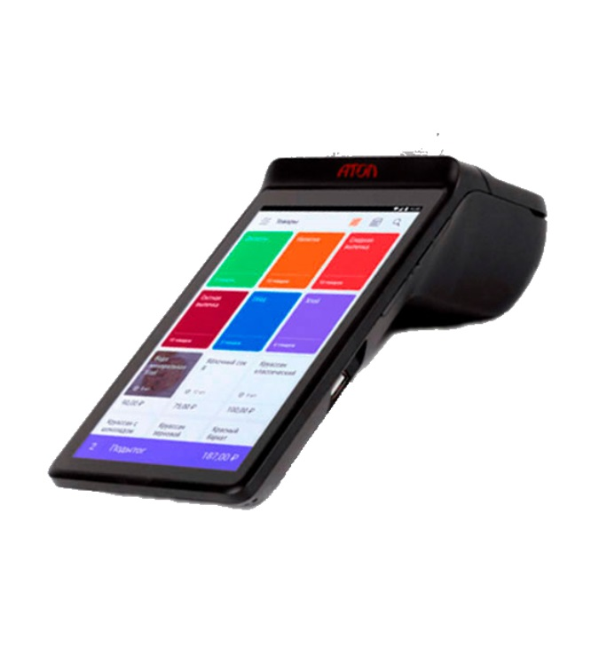 Онлайн касса Сигма 7Атол Сигма 7 – смарт-терминал для автоматизации работы кассира. Предназначен для магазинов, кафе, ресторанов, торговых сетей, различных служб и компаний, работающих в сфере услуг. Имеет широкое применение благодаря ОС, допускающей загрузку доп.приложений. Выполнен в моноблочном корпусе с сенсорным дисплеем и принтером с автоотрезом.